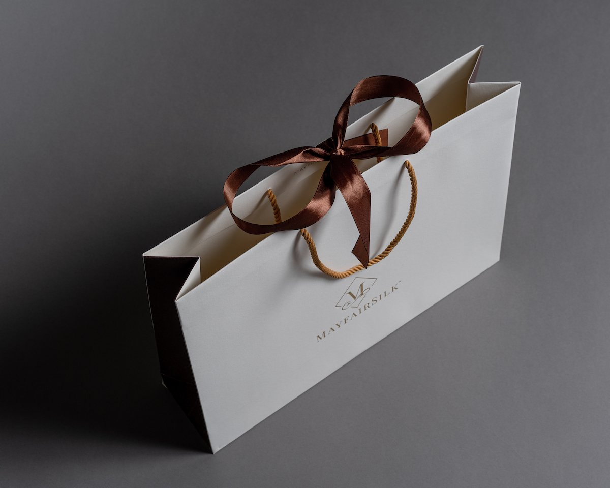LUXURY RECYCLED ROPE HANDLE PAPER BAG