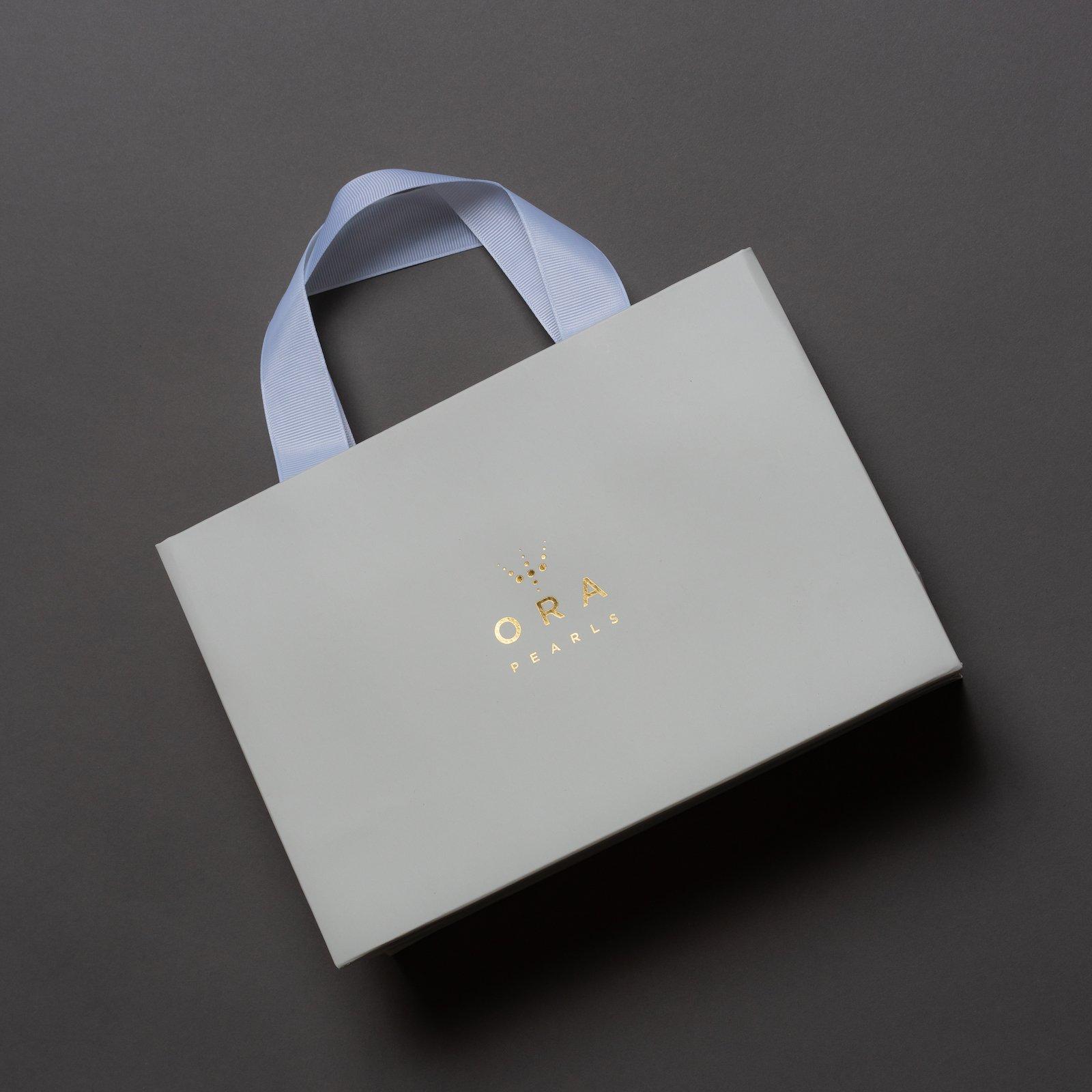 RIBBON HANDLE PRINTED GIFT BAG