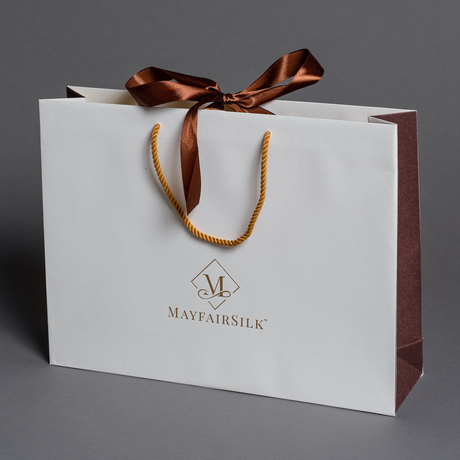 Luxury Recycled Paper Bag with Rope Handle