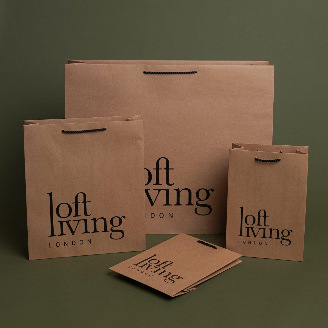 Rope Handle Printed Kraft Paper Bags